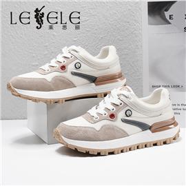 LESELE 莱思丽2021春季新款时尚拼接简约休闲鞋 LA7427