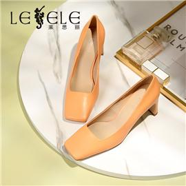 LESELE|Simple fashion square head thick high heels single shoes professional women's shoes | ma9219