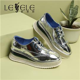 LESELE|Thick soled high casual British shoes