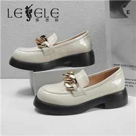 LESELE|莱思丽2021春季秋款复古英伦羊皮橡胶底时装鞋LA8493