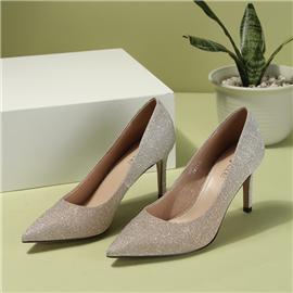LESELE|莱思丽高跟鞋女细跟春款新款韩版百搭尖头中跟小清新女单鞋|LA6569