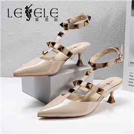 LESELE|莱思丽2021夏季新款时尚潮流羊皮橡胶底女式凉鞋 LE7837