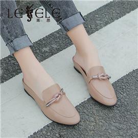 Lesele flat heel sweet student slippers women's bag head women's shoes | le5907