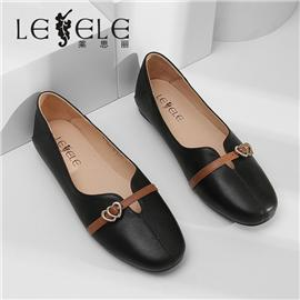 LESELE|Low heel soft sole casual slip on women