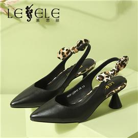 LESELE|莱思丽高跟凉鞋女洋气凉鞋潮款女士新款蝴蝶结粗跟网红百搭|LE7654