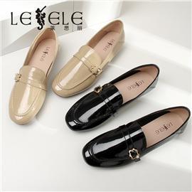 LESELE|Slip on loafers' shoes British single shoes|LA6742