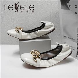 LESELE|莱思丽2021秋季新款舒适平稳羊皮橡胶底时装鞋LA85156