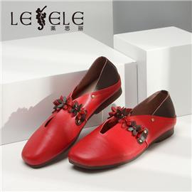 LESELE Retro granny shoes, one step shoes, Doudou shoes, women's shoes, la6619