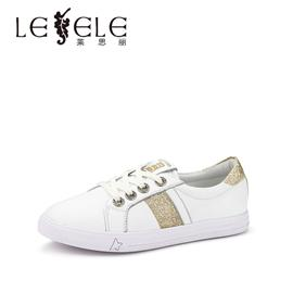 Lesele cowhide flat sole casual shoes single shoe female
