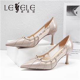 LESELE|莱思丽2021春季新款优雅复古英伦百搭漆皮时装鞋LA7488