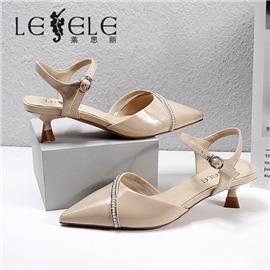 LESELE|莱思丽2021夏季新款优雅珍珠链时尚高跟女式凉鞋 LE7817
