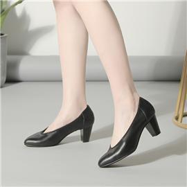 LESELE|Women's thick heel new Korean style all-around square head single shoes|LA5589