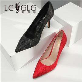 LESELE|莱思丽婚鞋女水晶鞋新款礼婚纱细跟单鞋公主结婚新娘高跟鞋|LA5353