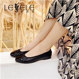 LESELE|莱思丽女鞋2020新款春季小香风拼色蝴蝶结浅口网红皮鞋单鞋|LA7260