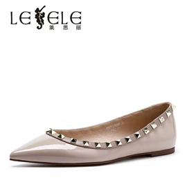 LESELE|Leather shoes, Liu Ding, pointed toe, single shoe, light mouth, lc608