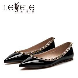 LESELE|All kinds of leather shoes, willow nails, pointed toe, shallow mouth, single shoes | lc6085