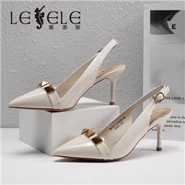 LESELE 莱思丽2021夏季新款复古英伦尖头女式凉鞋 LE7804