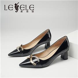 LESELE|莱思丽2021秋季新款复古英伦漆皮橡胶底时装鞋MA90081