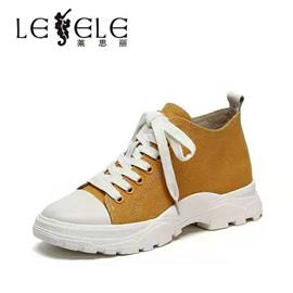 LESELE|莱思丽女短靴冬新款专柜同款韩版街头学生女休闲鞋牛皮女鞋LD6404