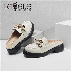 LESELE|莱思丽2021夏季新款时尚优雅潮流羊皮穆勒半拖 LE8275