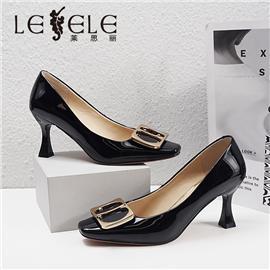 LESELE|莱思丽2021春季新款优雅复古百搭羊皮时装鞋LA7320
