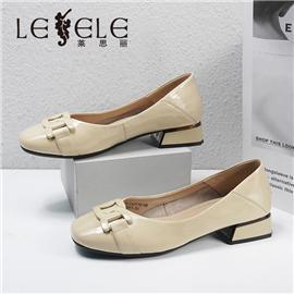 LESELE 莱思丽2021秋季新款优雅时尚牛皮橡胶底时装鞋LA7718