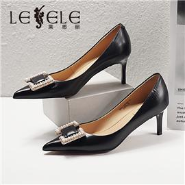 LESELE|莱思丽2021春季新款复古英伦牛皮高跟鞋LA7064