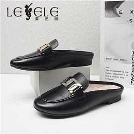 LESELE 莱思丽2021夏季新款优雅时尚牛皮猪皮女式凉鞋 LE7749
