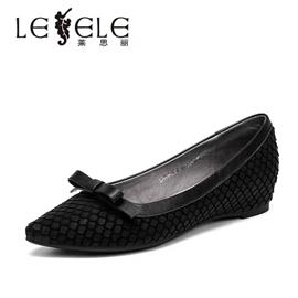 LESELE|Pointed flat shoes single shoes female lc6216