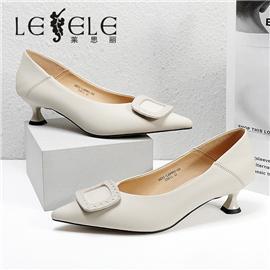 LESELE|莱思丽2021秋季新款英伦经典羊皮橡胶底时装鞋LC8961