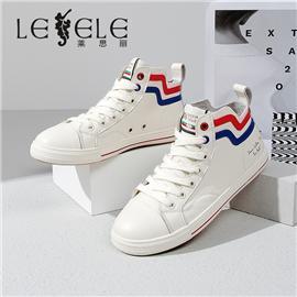 LESELE 莱思丽冬季新款时尚高帮小白鞋 LD7346