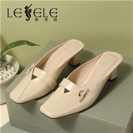 LESELE|Retro High Heeled Flip flops with mullers on the outside | MB9291