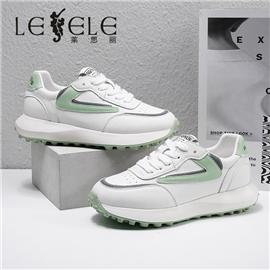 LESELE 莱思丽2021春季新款时尚拼色搭配休闲鞋 LA7766
