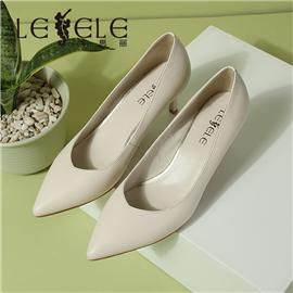 LESELE|Professional ol administrative single shoes sheepskin women