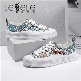 LESELE 莱思丽2021春季新款时尚百搭印花休闲鞋 LA6534
