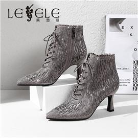 LESELE 莱思丽冬季新款烫钻短靴 性感吸晴 LD7658
