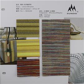 棉纱+毛织编织布