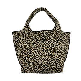 时尚飞织豹纹流行可回收手提包|雄德新材料