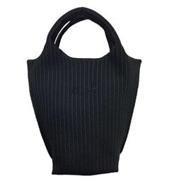时尚飞织纯色简约百搭环保黑色手提包|雄德新材料