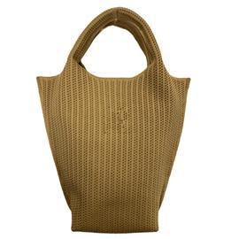 时尚飞织条纹菱形休闲可回收环保手提包|雄德新材料
