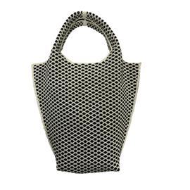 时尚飞织黑白条纹流行休闲手提包|雄德新材料