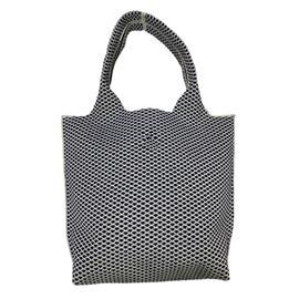 时尚飞织黑色简约条纹流行手提包|雄德新材料