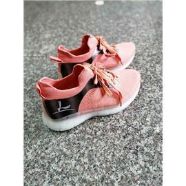HPW01-A,粉红色3D纺织精品跑鞋