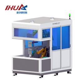 YH-3D視覺雙機器人大底鞋面噴膠工作站|意華科技