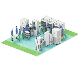 YH intelligent lean module production line (a)