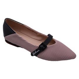 戴斯威袋鼠软鞋|408032黑粉色飞织跟鞋