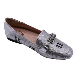 戴斯威袋鼠软鞋|408200银色乐福鞋