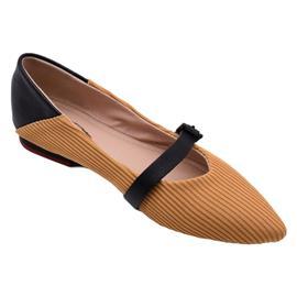 戴斯威袋鼠软鞋|408032黑黄色飞织跟鞋