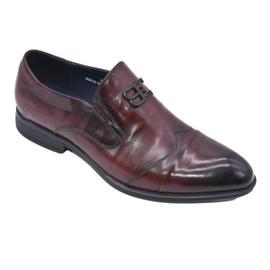 戴斯威袋鼠男鞋|727161商务时尚压纹小牛皮鞋