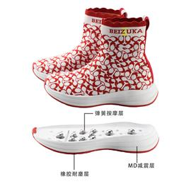 BZK005 | BEIZUKA第二代活力弹簧按摩鞋女款(红白)